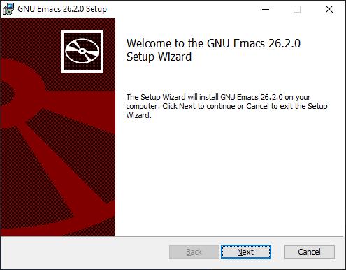 Update: MSI Installer for GNU Emacs 26 2 for Windows